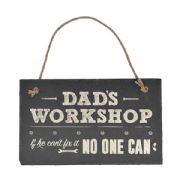 Dad's Workshop Slate Plaque